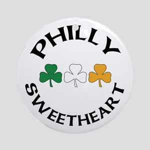 Philly Irish Sweetheart Ornament (Round)