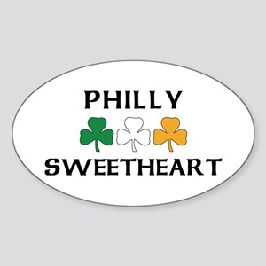 Philly Irish Sweetheart Oval Sticker