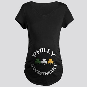 Philly Irish Sweetheart Maternity Dark T-Shirt