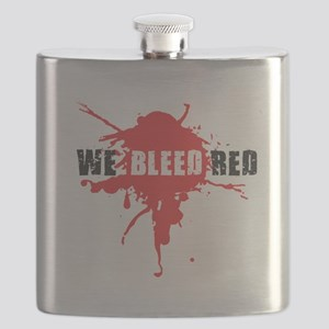We Bleed Red Flask