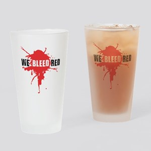 We Bleed Red Drinking Glass