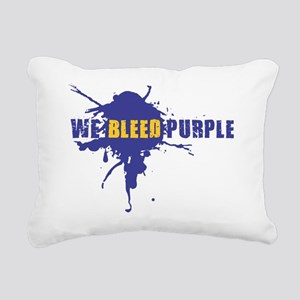 We Bleed Purple Rectangular Canvas Pillow
