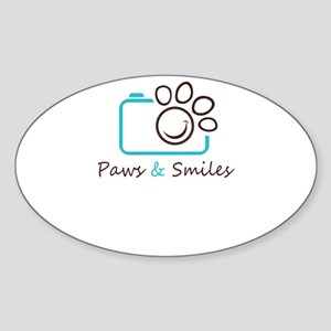 paws and smiles Sticker