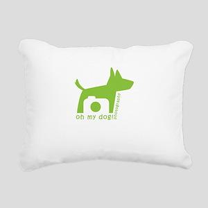 oh my dog! photography Rectangular Canvas Pillow