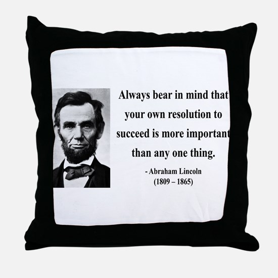 Abraham Lincoln 15 Throw Pillow