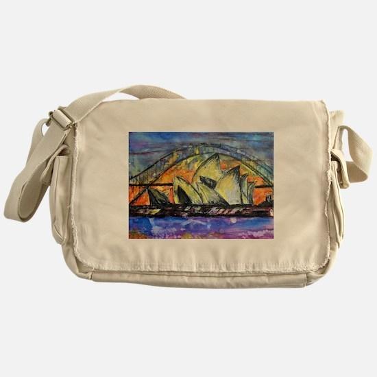 Hot Sydney Night Messenger Bag