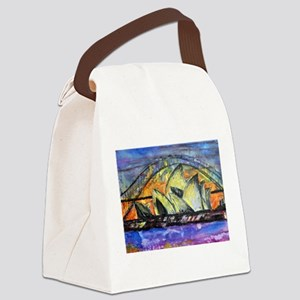 Hot Sydney Night Canvas Lunch Bag