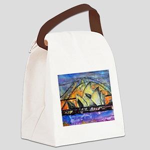 Hot Sydney Night Canvas Lunch Bag
