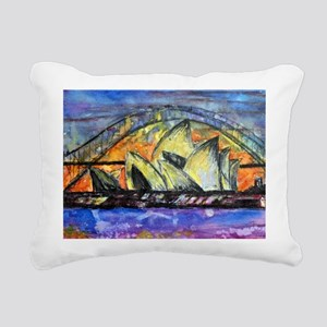 Hot Sydney Night Rectangular Canvas Pillow