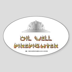 Oil Well Firefighter Oval Sticker