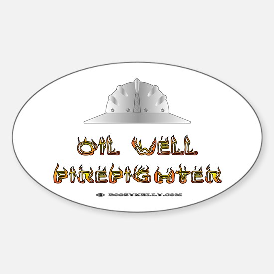 Oil Well Firefighter Oval Decal