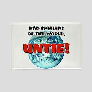 """Bad Spellers"" - Rectangle Magnet"