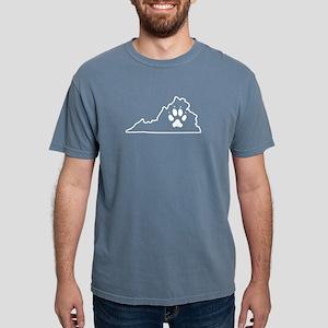 Small Dog Paw Virginia Aggressive Dog Resc T-Shirt