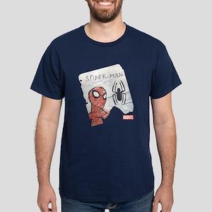 Spider-Man Paper Dark T-Shirt