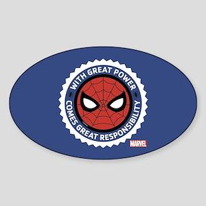 Spider-Man Seal Sticker (Oval)
