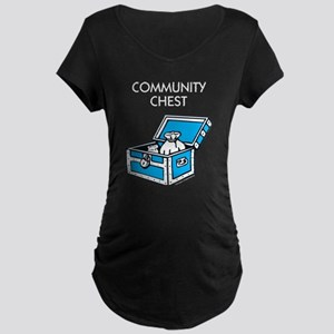 Monopoly - Community Chest Maternity Dark T-Shirt
