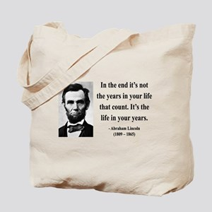 Abraham Lincoln 17 Tote Bag