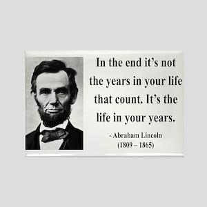 Abraham Lincoln 17 Rectangle Magnet