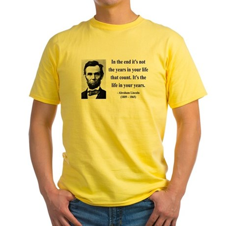 Abraham Lincoln 17 Yellow T-Shirt