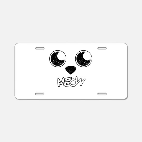 Soft kitty, warm kitty Aluminum License Plate