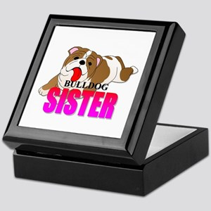 Bulldog Sister Keepsake Box