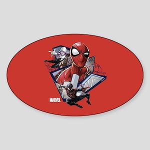 Spider-Man Trio Sticker (Oval)