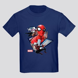 Spider-Man Trio Kids Dark T-Shirt