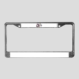 Artistic Om  License Plate Frame