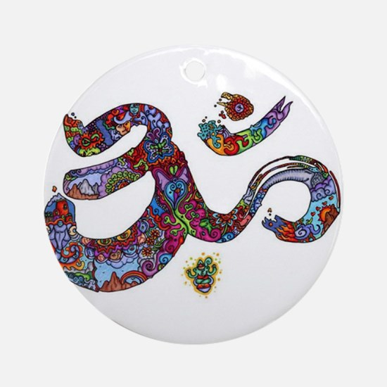 Artistic Om  Ornament (Round)