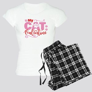Cat is My Valentine Women's Light Pajamas