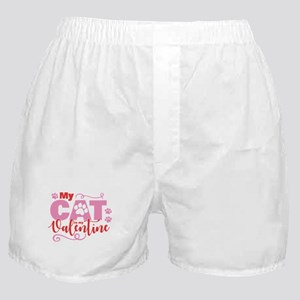 Cat is My Valentine Boxer Shorts
