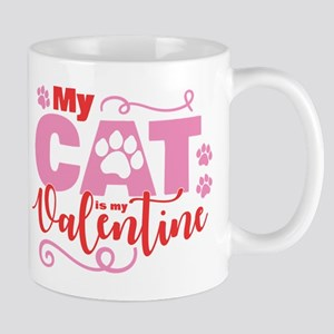 Cat is My Valentine Mug