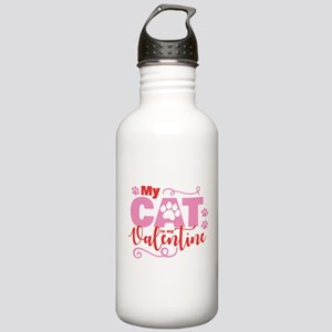 Cat is My Valentine Stainless Water Bottle 1.0L