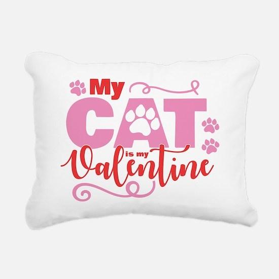 Cat is My Valentine Rectangular Canvas Pillow