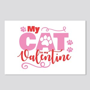 Cat is My Valentine Postcards (Package of 8)