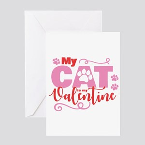Cat is My Valentine Greeting Card