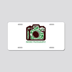 nature photography Aluminum License Plate