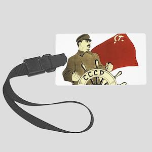 stalin communist soviet propagan Large Luggage Tag