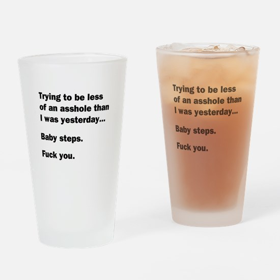 Baby Steps Drinking Glass