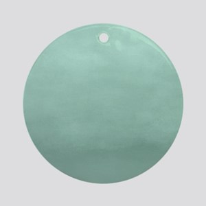 Mint Ombre Watercolor Round Ornament