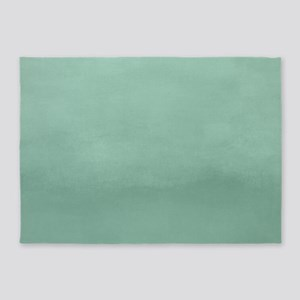 Mint Ombre Watercolor 5'x7'Area Rug