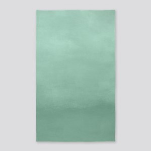Mint Ombre Watercolor Area Rug