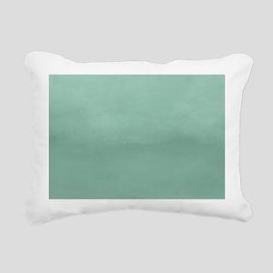 Mint Ombre Watercolor Rectangular Canvas Pillow