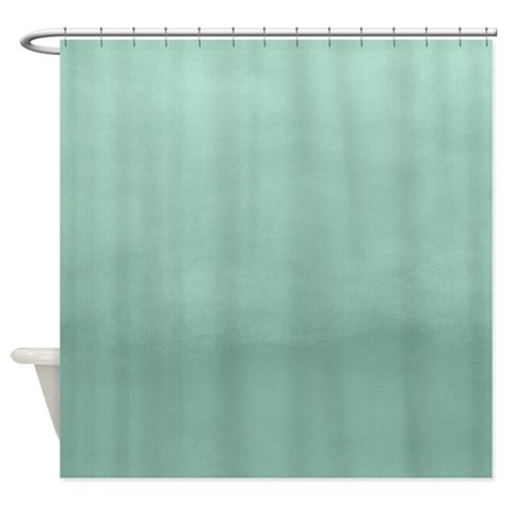 Mint Ombre Watercolor Shower Curtain By So Chic