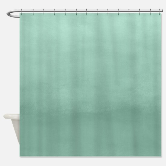 Mint Ombre Watercolor Shower Curtain