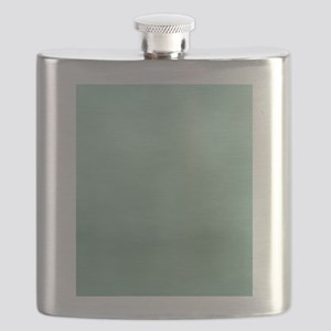 Mint Ombre Watercolor Flask