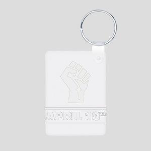 April 18th T-shirt Aluminum Photo Keychain