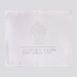 April 18th T-shirt Throw Blanket