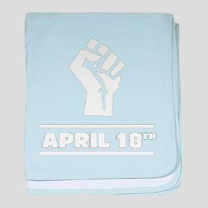 April 18th T-shirt baby blanket