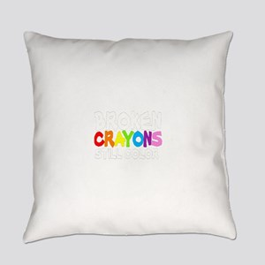 BROKEN CRAYONS STILL COLOR Everyday Pillow